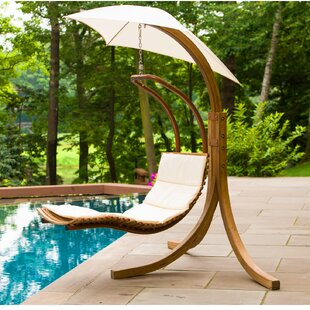 Polyester Hanging Chaise Lounger with Stand