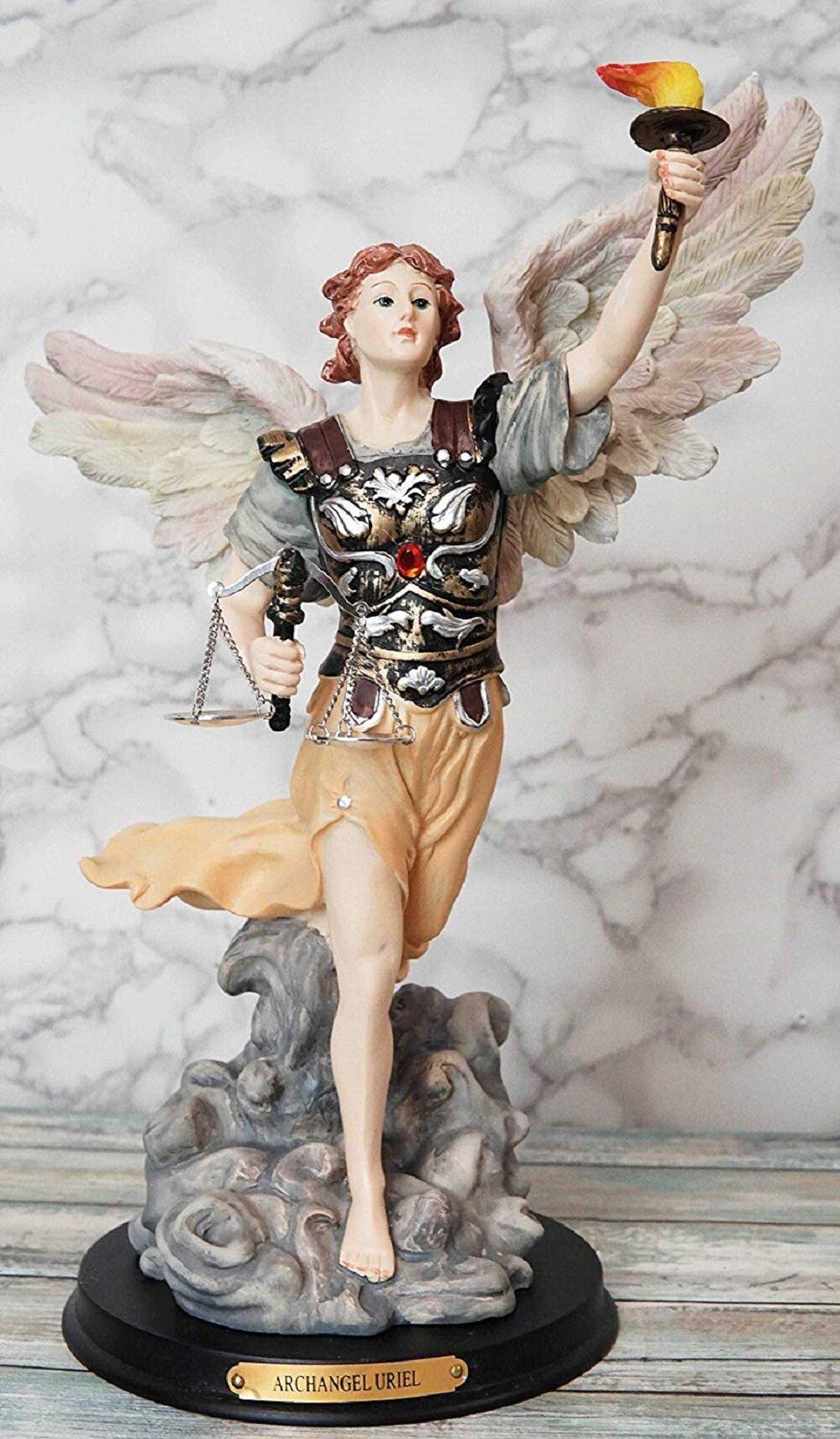 Winston Porter Guntram Saint Uriel The Fire Of God Figurine Wayfair