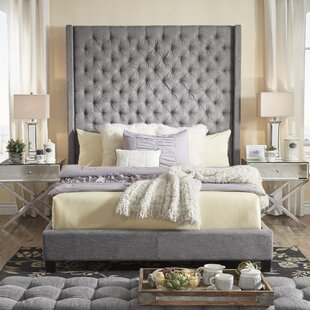 Borchers Upholstered Platform Bed by Three Posts