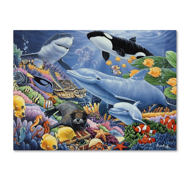 'Sealife' Graphic Art Marine wildlife Print - Ocean Wall Decor