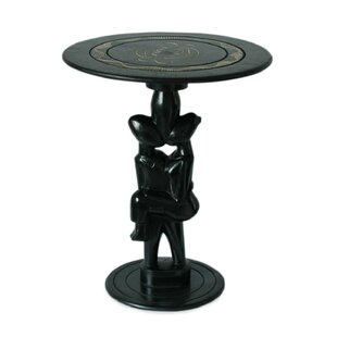 African Sweethearts Wood End Table by Novica
