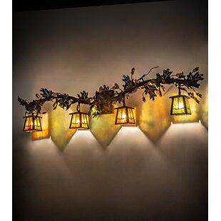 Oak Leaf Valley View 4-Light Vanity Light by Meyda Tiffany