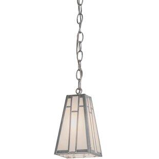 Meyda Tiffany Greenbriar Oak Double Bar Mission 1-Light Lantern Pendant