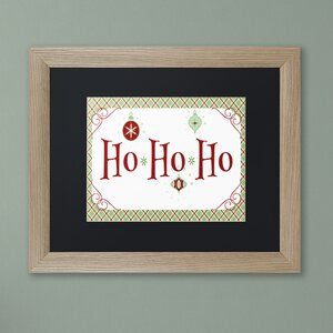 'Ho Ho Ho Banner' by Jennifer Nilsson Framed Textual Art
