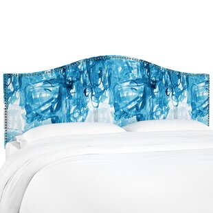 Brayden Studio Poynter Stroke Block Linen Upholstered Headboard