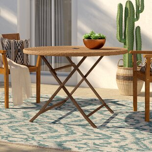 Brandy Folding Wicker Dining Table