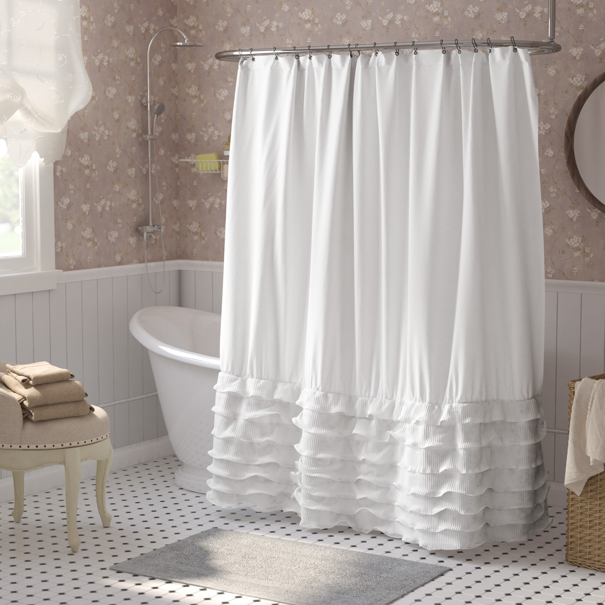 White Shower Curtains You Ll Love In 2020 Wayfair
