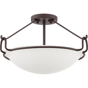 Roseann 3-Light Semi Flush Mount by Latitude Run