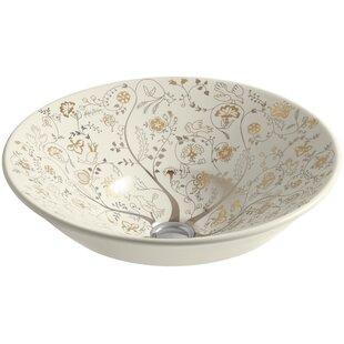 Best Reviews Mille Fleurs Ceramic Circular Vessel Bathroom Sink By Kohler