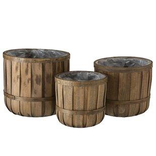 Ridgemont 3 Piece Wood Cachepot Set Image