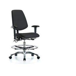 Leonardo Ergonomic Drafting Chair by Symple Stuff Coupon
