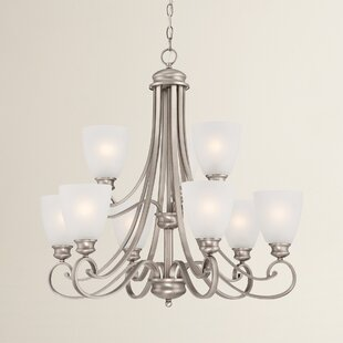 Elinor 9-Light Shaded Chandelier by Fleur De Lis Living