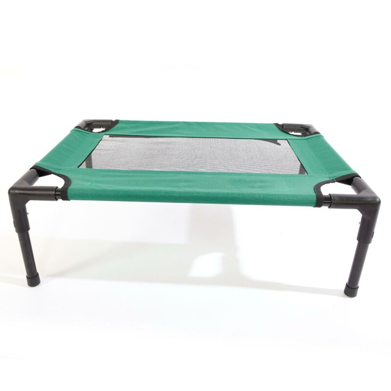 Access Control Detachable Assembly Style Breathable Pet Steel Frame Camp Bed S Green Sufficient Supply