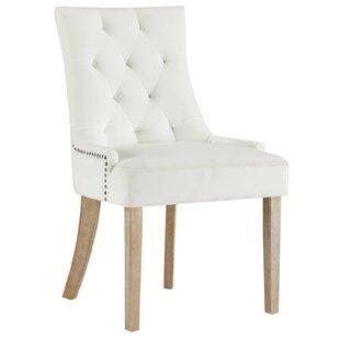 House of Hampton Lenoir Velvet Upholstered Dining Chair