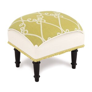 Etta Lime Pillow Top Ottoman by Easter..