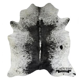 Best Reviews Dubose Black/White Cowhide Area Rug By Mercer41