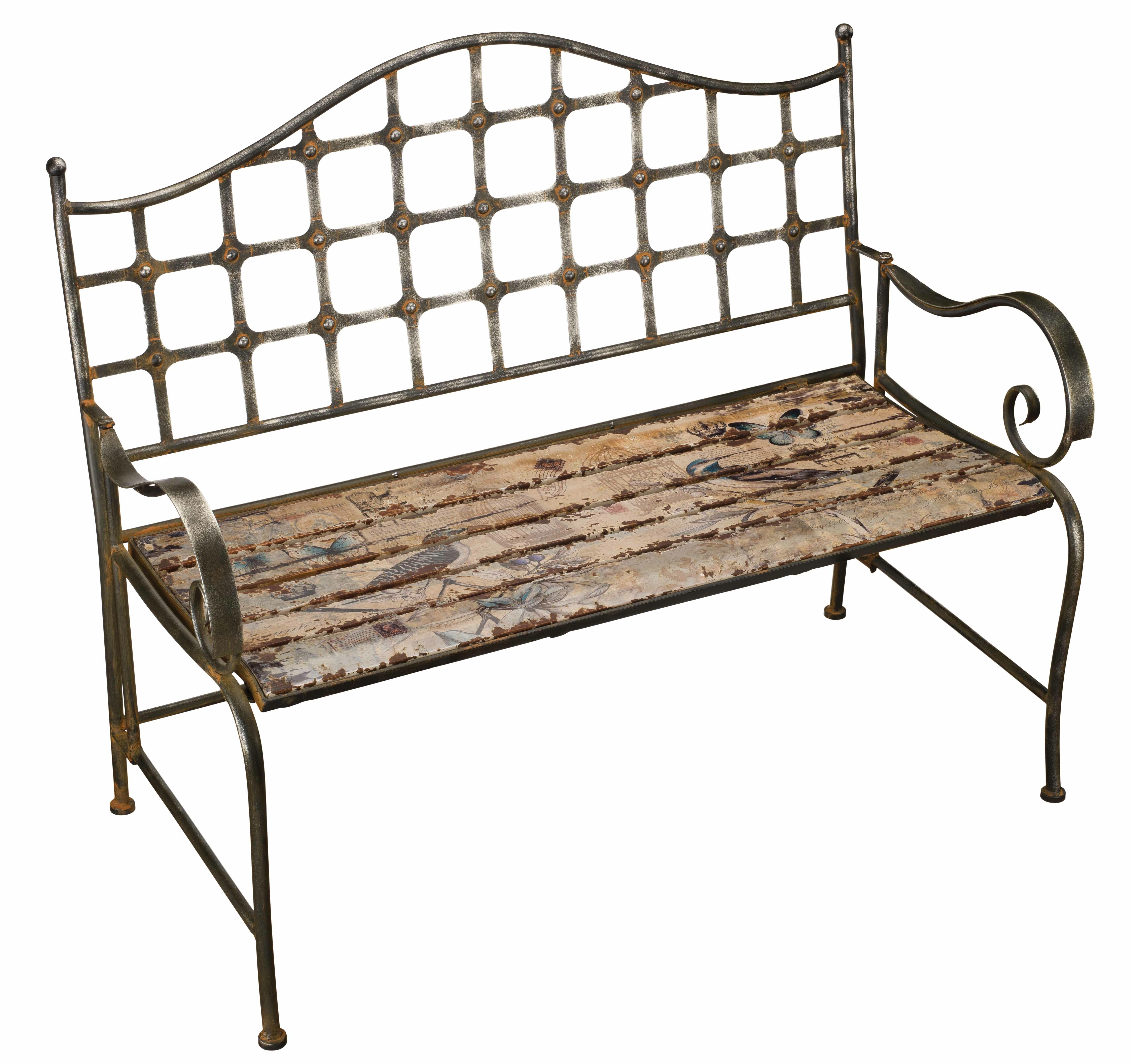 Fabulous Bird Wrought Iron Garden Bench Creativecarmelina Interior Chair Design Creativecarmelinacom