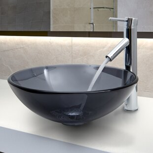Find the perfect Sheer Glass Circular Vessel Bathroom Sink with Faucet By VIGO
