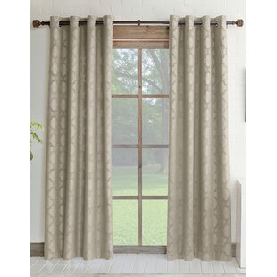 Estate Geometric Room Darkening Grommet Single Curtain Panel by Natco Home