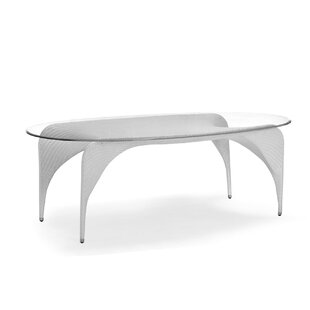 Rivage Glass Dining Table by 100 Essentials