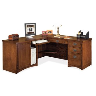 Martin Home Furnishings Mission Pasadena L-Shape Executive Desk