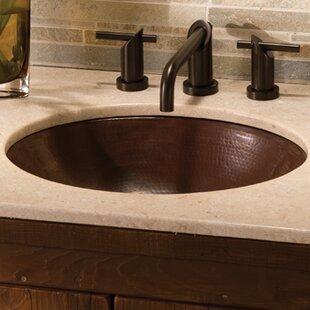 Reviews Classic Metal Oval Undermount Bathroom Sink ByNative Trails, Inc.