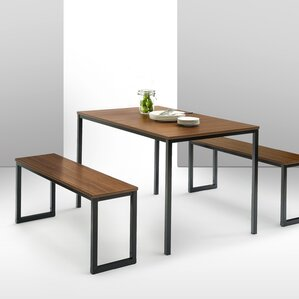 Walser 3 Piece Dining Table Set by Varick Galle..