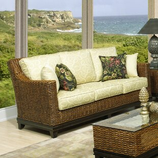 Boca Rattan Biscayne Sofa with Cushions