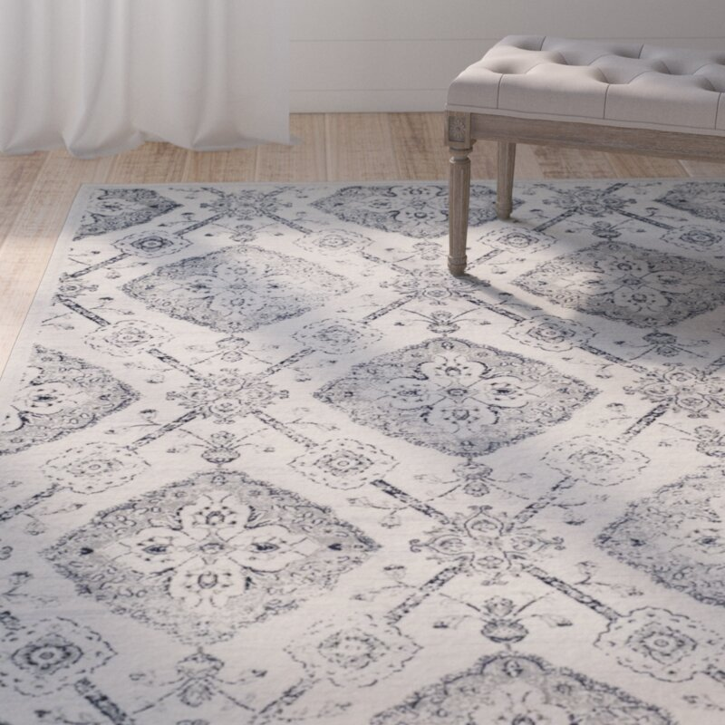 One Allium Way Joana Gray Area Rug Wayfair