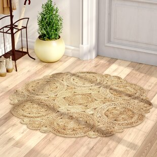 Nesrine Jute Hand-Woven Natural Area Rug by Lark Manor