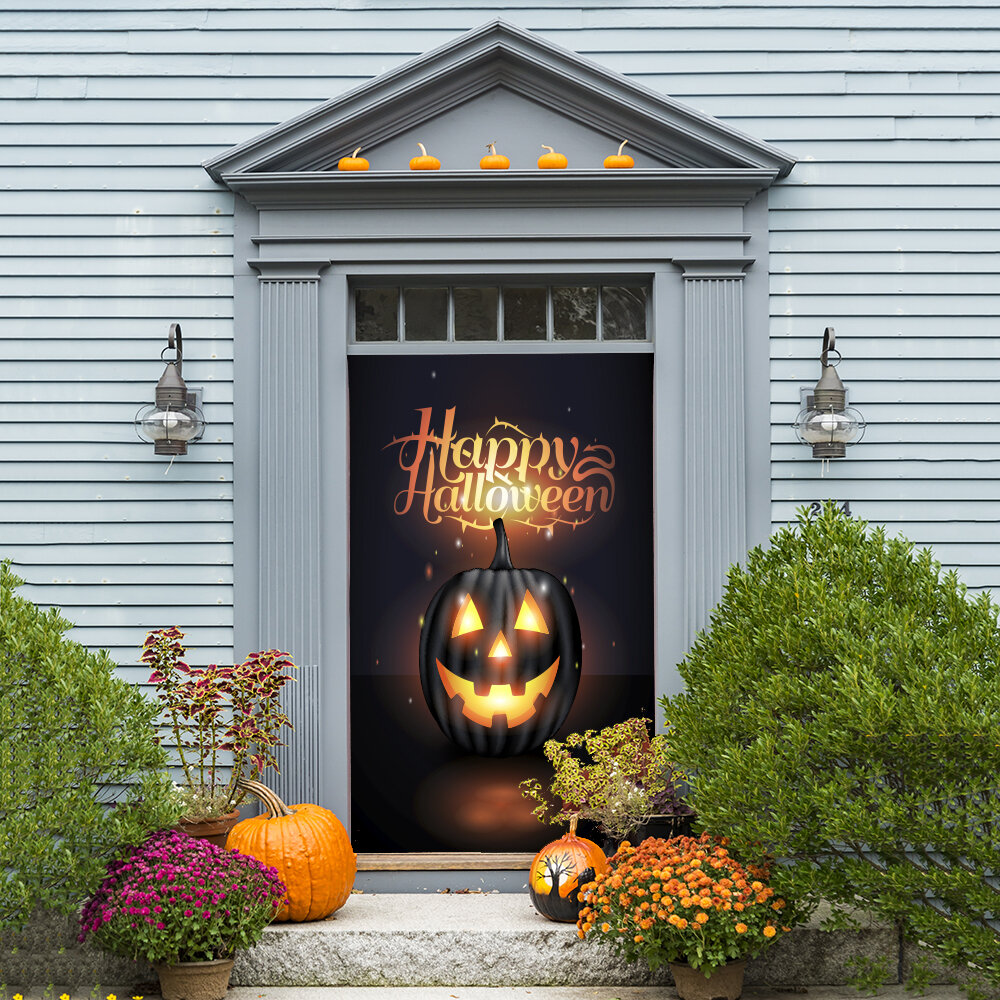 The Holiday Aisle Happy Halloween Door Mural | Wayfair