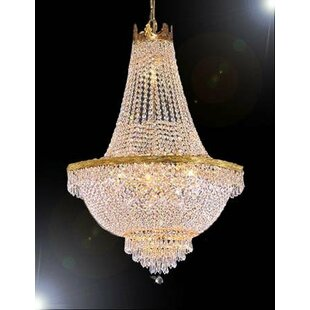 Lombardo Trimmed 14-Light Chandelier by Astoria Grand
