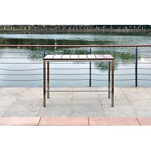 Iverson Outdoor Stainless Steel Bar Table by Bayou Breeze