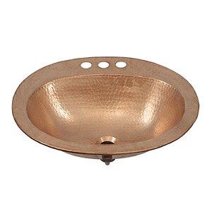 Sinkology Kelvin Metal Oval Drop-In Bathroom Sink with Overflow