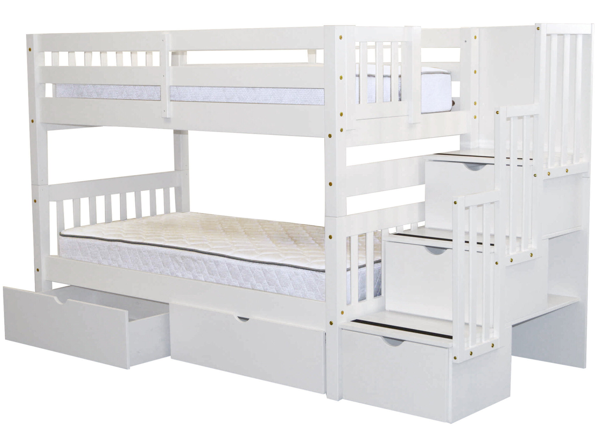 Tena Twin over Twin Bunk Bed with Extra Storage & Reviews | Birch Lane