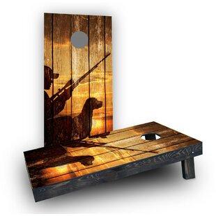 Custom Cornhole Boards Sunrise Hunters With Wood Slat Background Cornhole Boards (Set of 2)