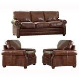 Lyndsey 3 Piece Leather Living Room Set by 17 Stories