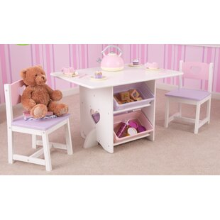 Heart Kids 7 Piece Table u0026 Chair Set  sc 1 st  Wayfair : frozen table and chairs set - pezcame.com