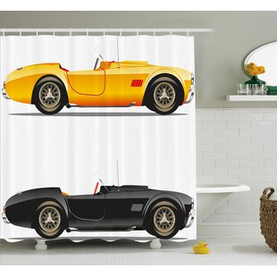 Vintage Retro Nostalgic Cars Shower Curtain
