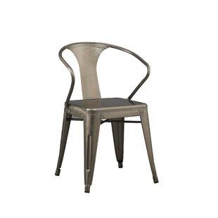 Metal Stacking Arm Chair Set of 2