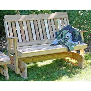 Cedar Countryside Glider Bench by Creekvine Designs