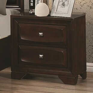Darby Wooden 2 Drawer Nightstand