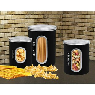 Airtight 3 Piece Kitchen Canister Set