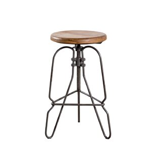Adjustable Height Swivel Bar Stool by Wildon Home?