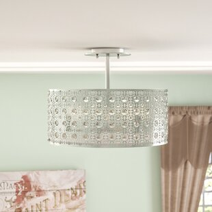 Kemble 3-Light Semi Flush Mount by Willa Arlo Interiors