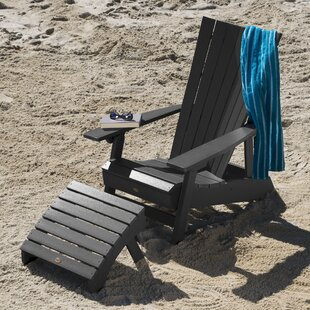 Deutsch Plastic Adirondack Chair with Ottoman