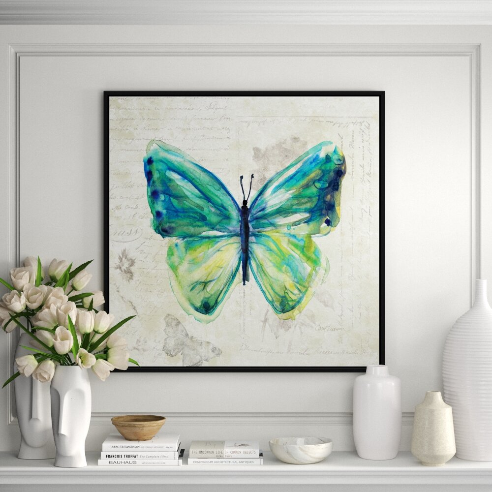 Jbass Grand Gallery Collection Butterfly Sketch Iv Framed Print On Canvas Perigold