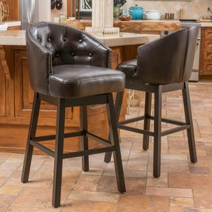 Farmington 30 Swivel Bar Stool (Set of 2) Alcott Hill