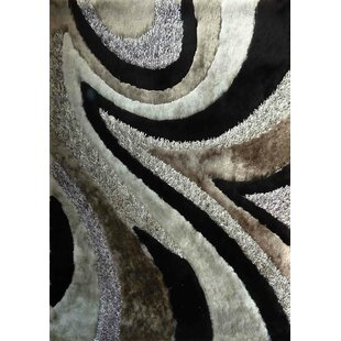 Big Save Rhynes Hand-Tufted Gray/Black Area Rug ByLatitude Run