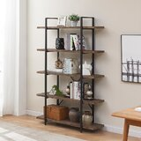 Iolanthe 70 H x 47.3 W Metal Etagere Bookcase by 17 Stories